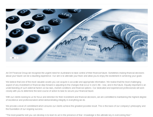 CW Financial Group Website Design