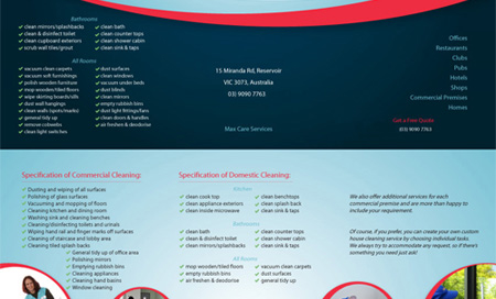 Max Care Services Flyer designed by SH Designs
