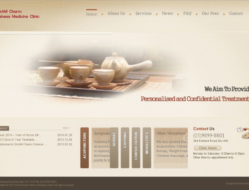 Saam Charm Chinese Medicine Clinic Website Design