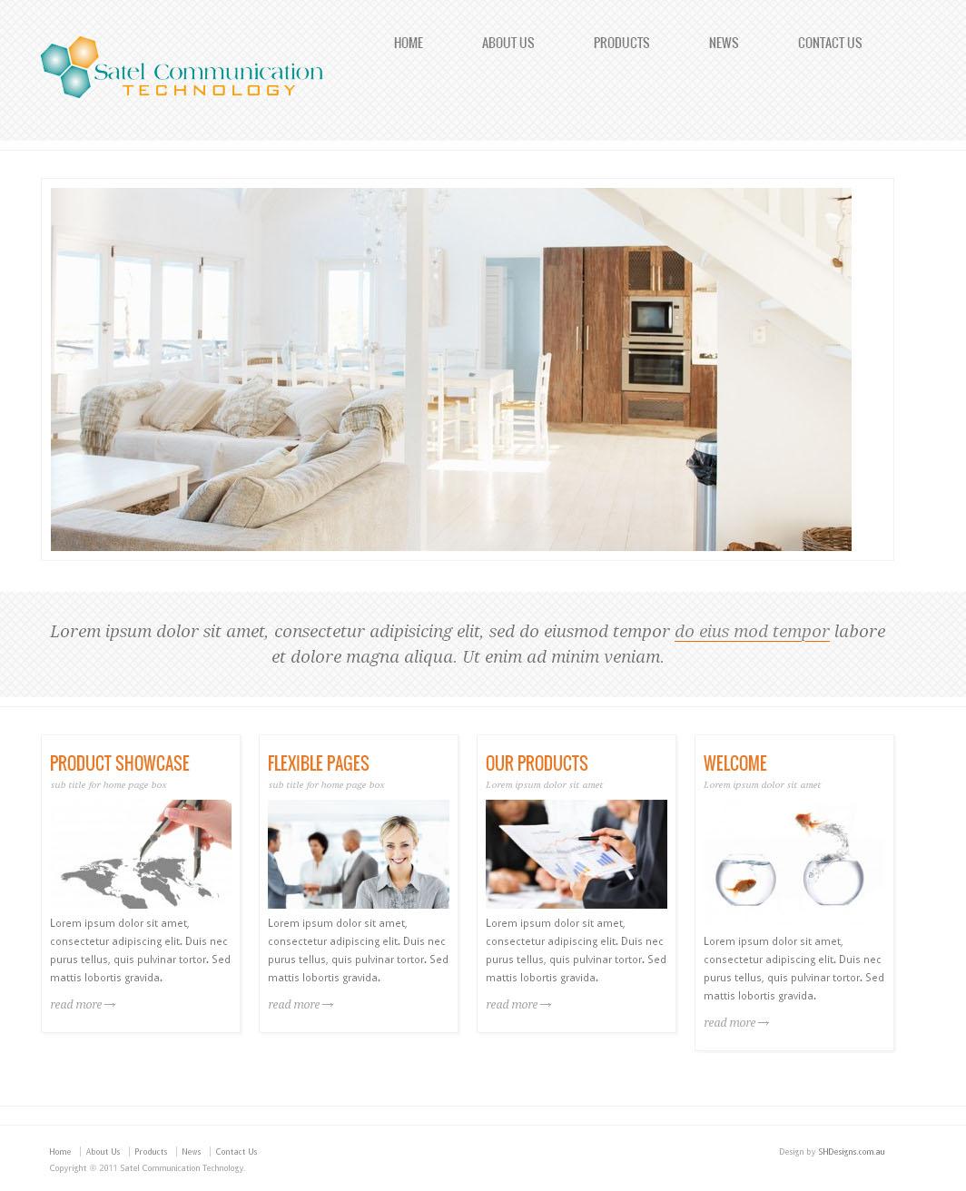 Satel Communication Website Design By SH Designs