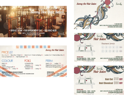 Sunny Ave Hair Salon Price List, Coupon Design