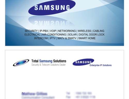 Total Samsung Solutions Business Cards Design