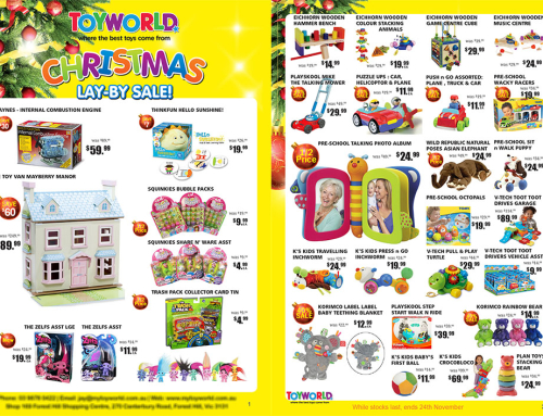 Toy World Brochure, Sticker Design
