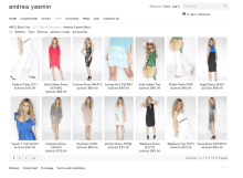 Andrea Yasmin E-Commerce Website designed by SH Designs