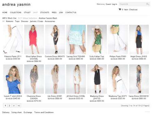 Andrea Yasmin E-Commerce Website Design