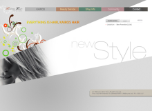 Kairos Hair Story Website designed by SH Designs