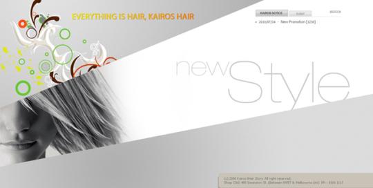 Kairos Hair Story Website designed by SH Designs