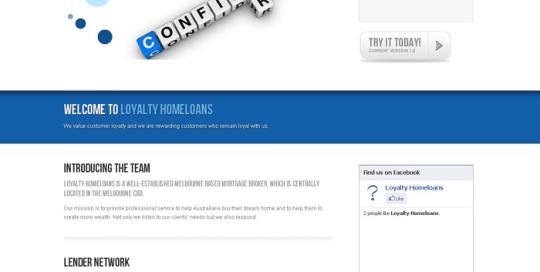 Loyalty Homeloans Website designed by SH Designs