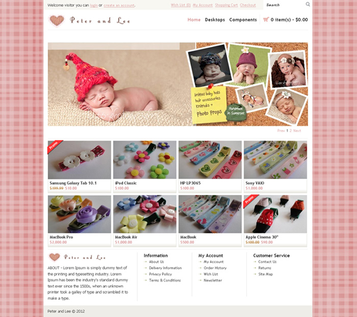 Peter and Lee E-Commerce Website designed by SH Designs