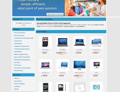 Satel Global E-Commerce Website Design