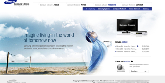 Total Samsung Solutions Website designed by SH Designs