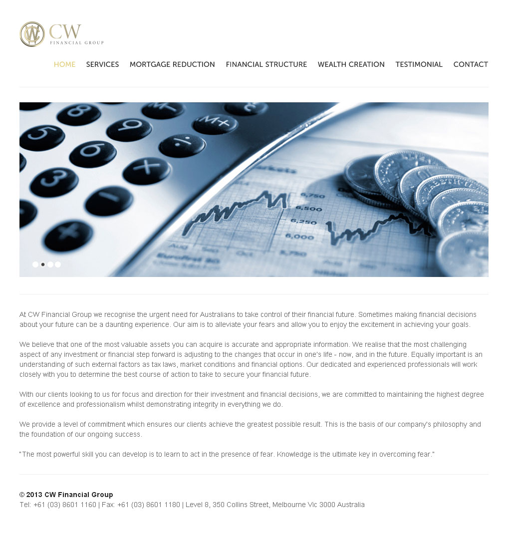 CW Financial Group Design By SH Designs