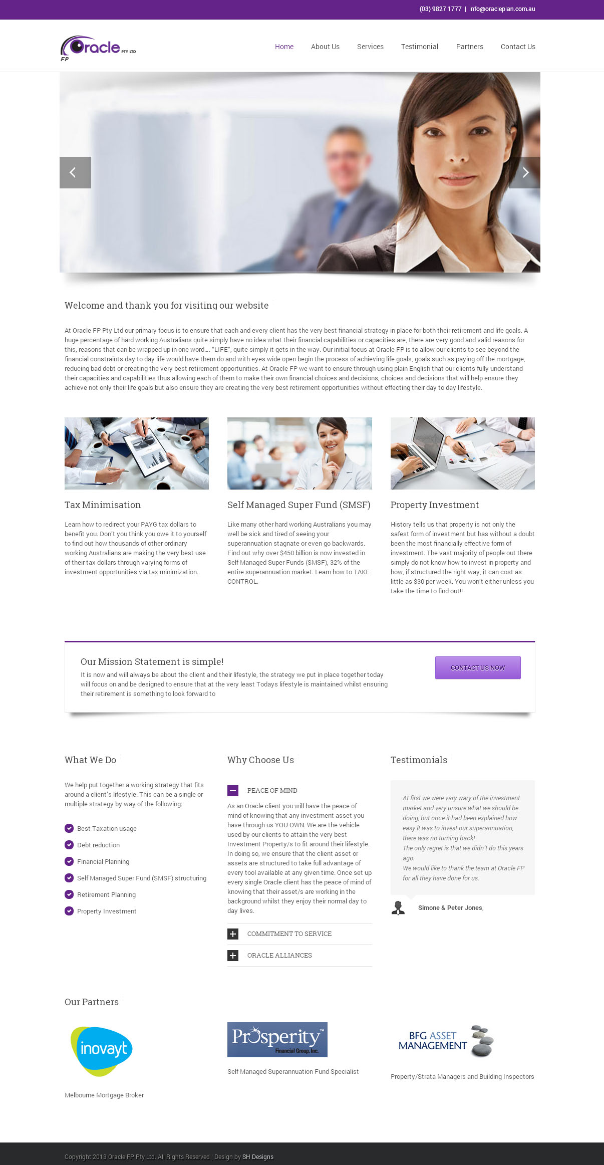 Oracle Financial Planning Design By SH Designs