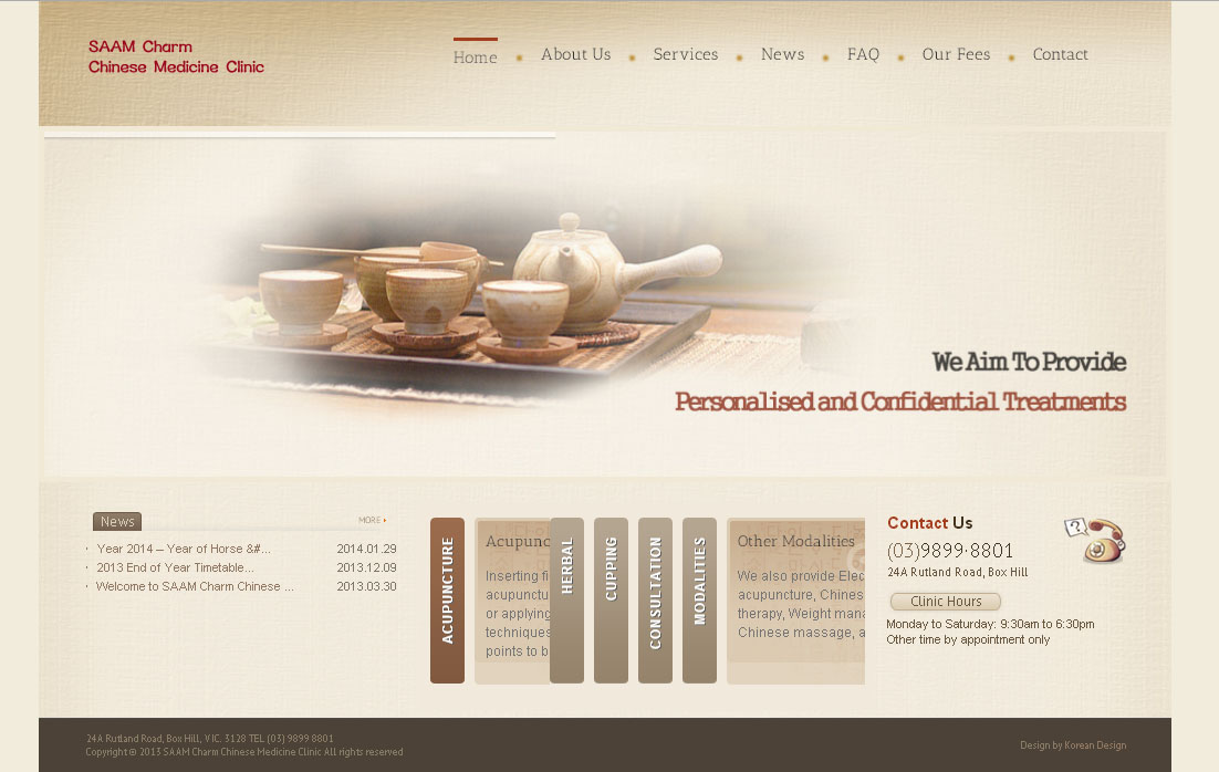 SAAM Charm Chinese Medicine Clinic Design By SH Designs