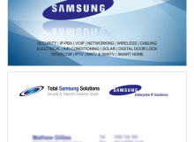 Total Samsung Solutions Business Card designed by SH Designs