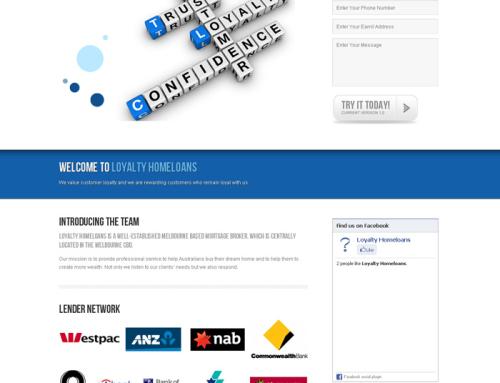 Loyalty Homeloans Website, DL Flyer Design, Banner Design