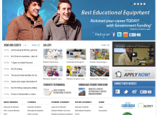 Menzies Institute of Technology Website Design Renewal designed by SH Designs